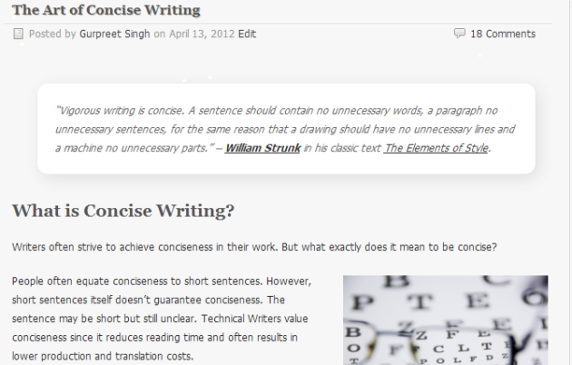 Art of Concise Writing