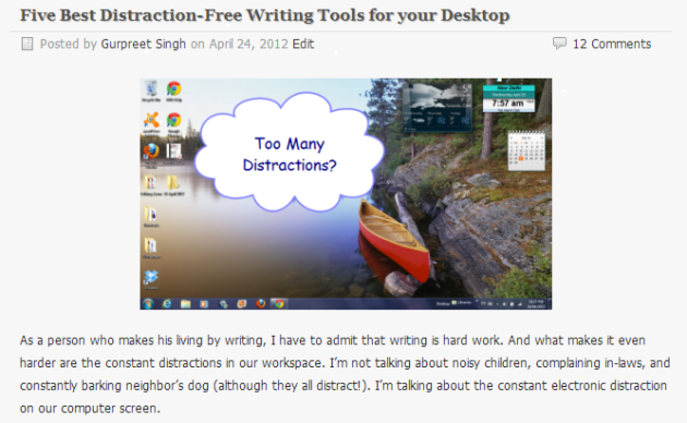 Five Best Distraction Free