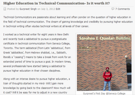 higher education in technical communication