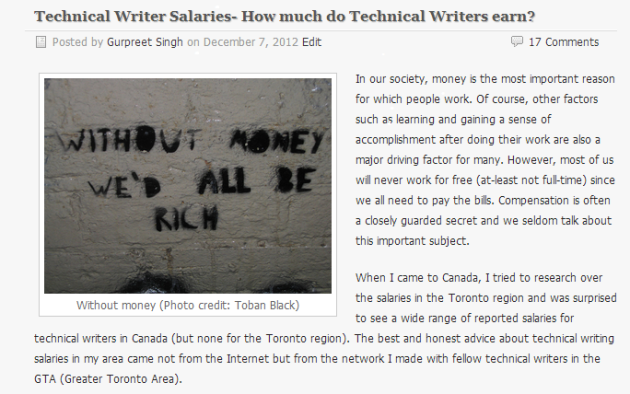 Technical Writer Salaries